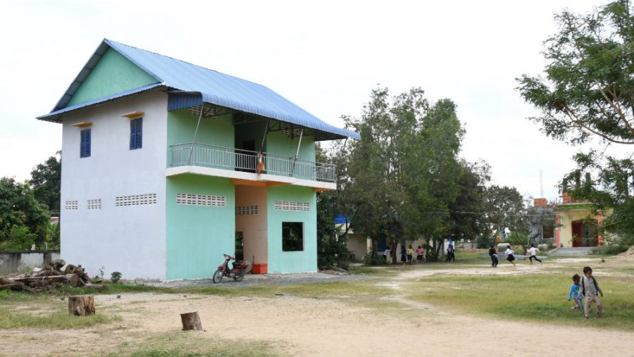 The Community Kids Kitchen House on the school grounds of RSP's Angtonlap School